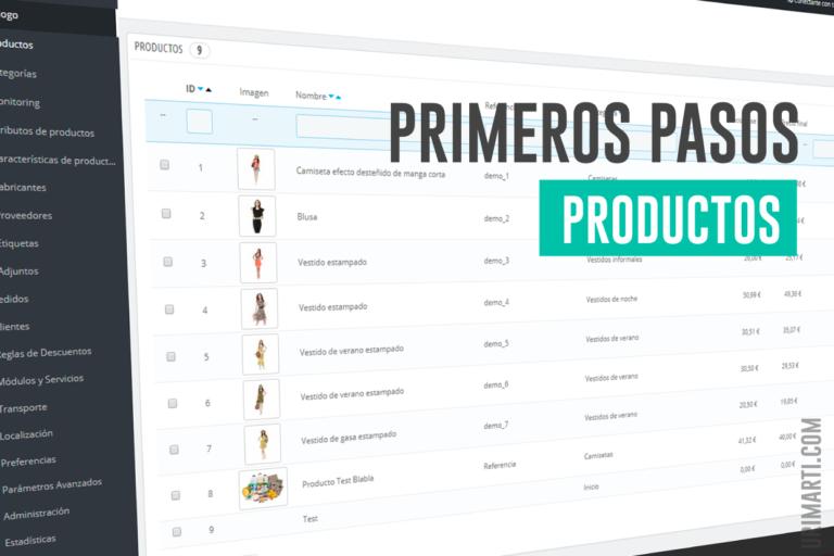 Productos en Prestashop